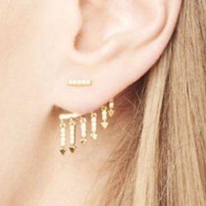 Stella Dot Annex earrings posts eat jackets New